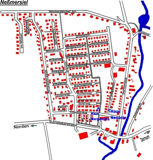 neßmersiel karte Ferienhaus Kuschel   Karte Neßmersiel